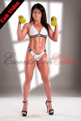 Una escort de lujo fitness con video sexy